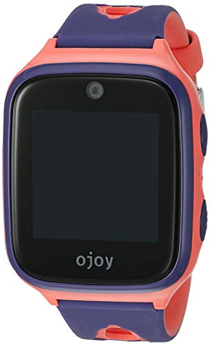 [new version] ojoy a1 kids smart watch | waterproof smart watch for kids | 4g lte gps watches for boys and girls | cellular gizmo watch | with ios & android app (purple/pink)