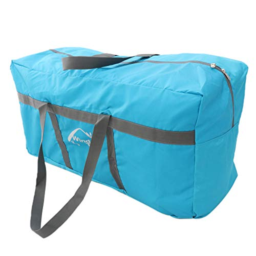 MagiDeal Large Tent Compression Storage Bag Duffel Bag 80x30x40cm for Camping Awning Canopy Tarp Shelter Organizer Holder Outdoor Sports - Blue