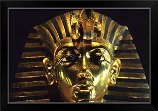 CANVAS ON DEMAND King TUT Death Mask - Cairo, Egypt Black Framed Art Print, 27