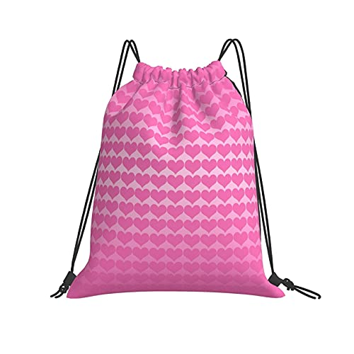 Dhxeqok Mochila con cordón Deportes Sackpack Fondo rosa Deporte Gimnasio Senderismo Yoga Natación Viajes Playa Mochila para mujeres Hombres