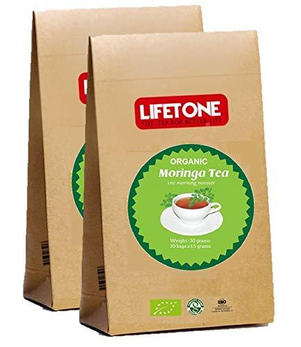 Bio Moringa Blatt Tee koffeinfrei 40 Teebeutel | Moringa Tee Morgen Booster