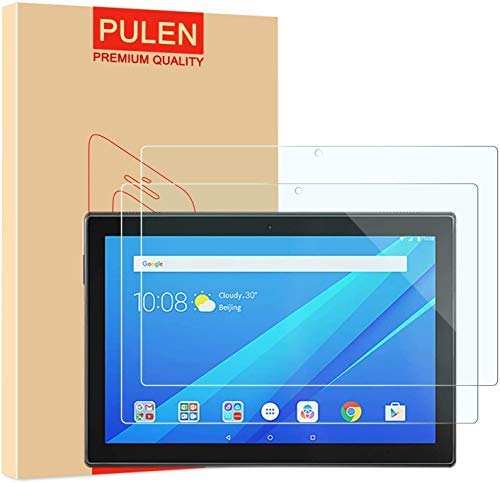 PULEN [2 Pack] Compatible Lenovo Tab M10 Screen Protector, Premium Quality Tempered Glass [Bubble Free][Anti-Fingerprint][Easy-Install] HD Scratch Resistance Film for Lenovo Tab M10