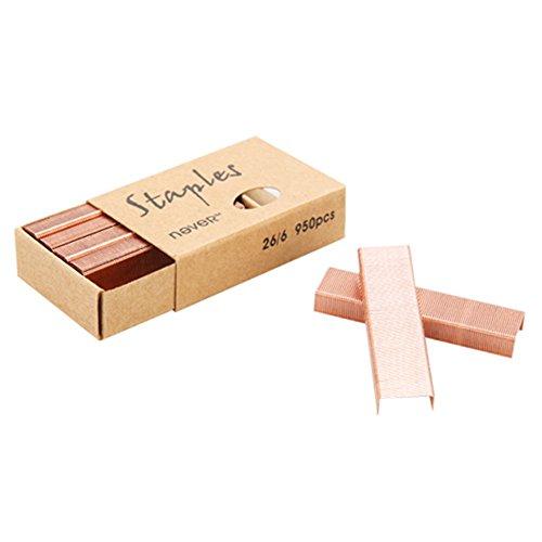 MultiBey Rose Gold Staples Stapler Refill Standard Size #12, 4 Boxes per Pack (Rose Gold)