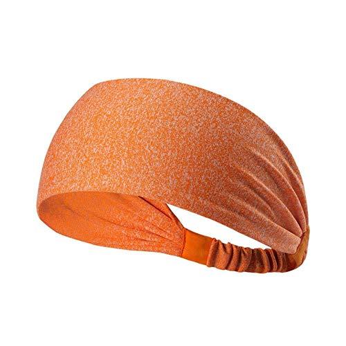 Gouen elastische yoga hoofdband sport zweetband dames heren hardlopen sport haarband tulband outdoor gym zweetband sportbandage, oranje
