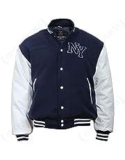 Mil-Tec NY Baseball Jacket m. Patch zwart/wit