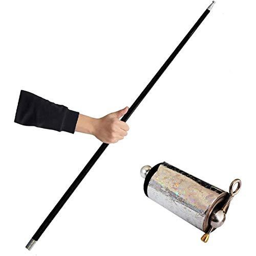 mooderf Bastón Cane Durable Decompression Walking Stick Prop Toy ligero, plegable, extensible y ajustable, flexible y duradero, bastón para hombres