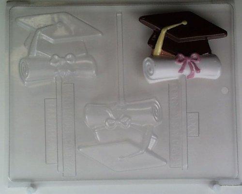 M260 Diploma Graduate Graduation Pretzel Chocolate Candy Mold w//instructions