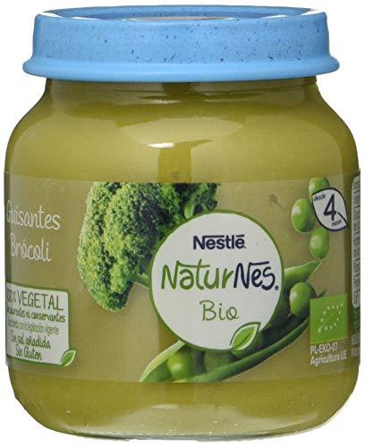 Nestlé Naturnes Bio Pure Guisantes Brócoli Para Bebés Desde 4 Meses - Pack de 12 tarritos 125g