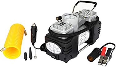 SCITOO 12V DC Heavy Duty Power Portable Air Compressor Tire Inflator Air Pump with Digital tire inflator Gauge 150PSI with LED Light for Auto Car,Bicycles and Other Inflatables