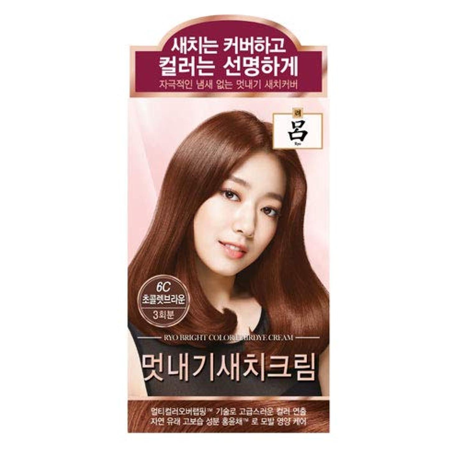 特権的ハンマー所得アモーレパシフィック呂[AMOREPACIFIC/Ryo] ブライトカラーヘアアイクリーム 6C チョコレートブラウン/Bright Color Hairdye Cream 6C Chocolate Brown