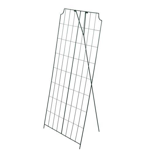 bellissa 1 Stück - Gurken-Gitter und Rankhilfe für Gurkenpflanzen und Gemüse – Rank- für Topfpflanzen grün 121x77 cm