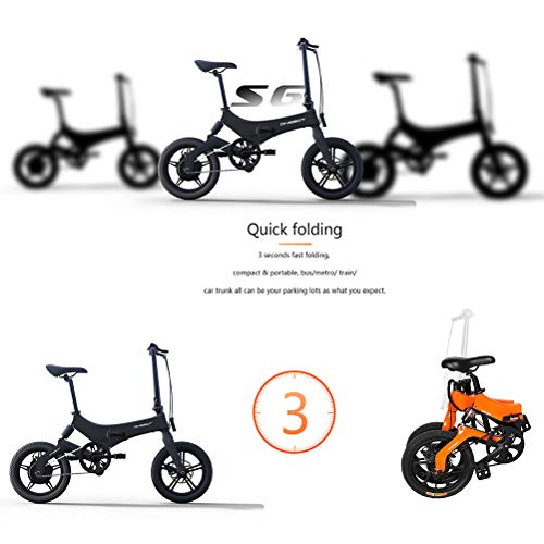 """Bestice Electric Bikes for Adult ONEBOT S6 16"""" Foldable E-Bike 36V 6.4Ah 250W 25KM/h Electric Bikes Adjustable Lightweight Magnesium Alloy Frame E-Bike for Sports Cycling Travel Commuting"""