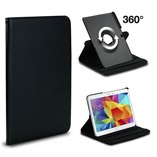 subtel® Smart Case Compatible con Samsung Galaxy Tab 4 10.1 (SM-T530 / SM-T531 / SM-T533 / SM-T535) Cuero Artificial Funda Flip Cover Case Negro