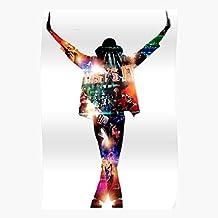 Bad Michael Thriller Jackson It King Music Pop Regalo para la decoración del hogar Wall Art Print Poster 11.7 x 16.5 inch