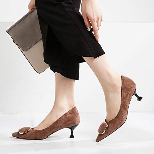 HOESCZS Talons Hauts Beaux Femmes à Talons Hauts Noir avec Nouveau Pointu Sauvage avec Un Petit Chat Frais De 5 Cm avec Une Seule Chaussures Femme