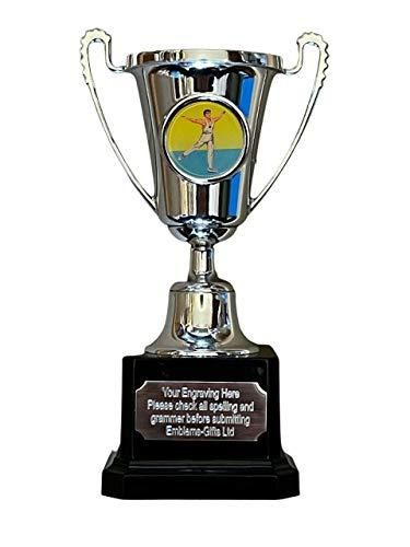 Emblems-Gifts Trofeo de premio de la mini copa de la gimnasia masculina grabado GRATIS