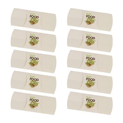 Cabilock 10 Piezas de Papel de Burrito Envuelve Bolsa de Embalaje de Burrito Desechable Diy Nachos Rollo de Pollo para Llevar Contenedor para Tienda en Casa