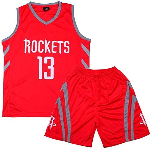 Formesy Camiseta Baloncesto niño/Basketball Jersey Set para Unisex - # 23 Lakers James / # 13 Rocket Harden / #11 Celtic Irving Traje De Baloncesto De Verano Conjunto De Dos Piezas para Niño Niña