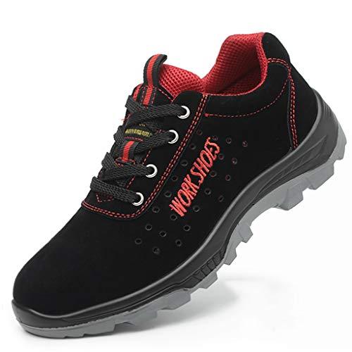 Scarpe antinfortunistiche Scarpe da lavoro da uomo, scarpe da lavoro, saldatrici vecchie, traspiranti e antiodore, scarpe leggere in pelle resistente all'usura, scarpe antinfortunistiche e antiperfora