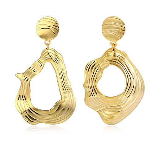 Girl's Onregelmatige oorbellen Legering Materiaal Eenvoudig ontwerp Grote schommel Oorbellen Mode-sieraden Oorbellen