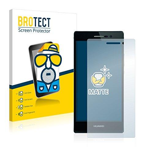 BROTECT 2X Entspiegelungs-Schutzfolie kompatibel mit Huawei Ascend P7 Bildschirmschutz-Folie Matt, Anti-Reflex, Anti-Fingerprint