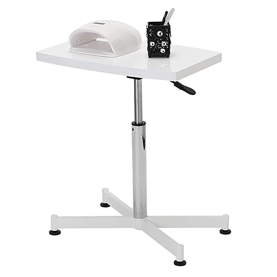 欲望自分を引き上げるシャックルマニキュアテーブルネイルプレートマニキュアテーブルは360度回転ネイルテーブル/美容カートを上下させることができます
