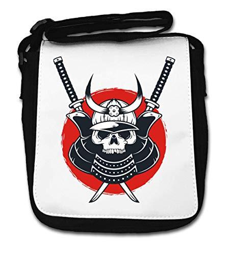 Samurai Skull Ostkaka Tokyo Rising Sun Katana Small Shoulder Bag