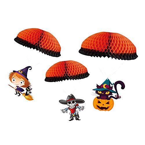 Culater Ciondolo Di Carta Con Paracadute Di Halloween Ciondolo Con Paracadute Di Halloween (A)