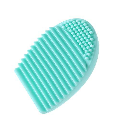 Demarkt Rápido Fácil Limpieza Cosmético Maquillaje Cepillo Brocha Silicona Limpiador HOT (1pcs +Verde)