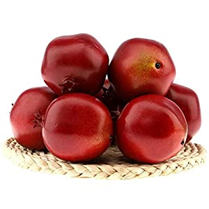 Gresorth 6 Pcs Lifelike Artificial Pomegranet Decoration Fake Pomegranate Fruit Home Party Kitchen Festival Show