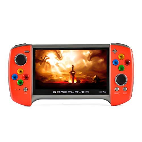yasu7 2020 nueva consola de juegos de mano X19 Plus, nostálgico de 360 grados de doble balancín, pantalla grande de 5.1 pulgadas, 1000 juegos clásicos