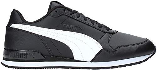 Puma Unisex-Erwachsene St Runner V2 Full L Sneaker, Black White, 44 EU