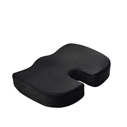 LSJZZ Comfortable Cushion Ergonomic Memory Foam and Tailbone Support U-Shaped Zero-Gravity Office Chair Cushion