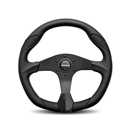 MOMO QRK35BK0B Quark Black 350 mm Urethane Steering Wheel