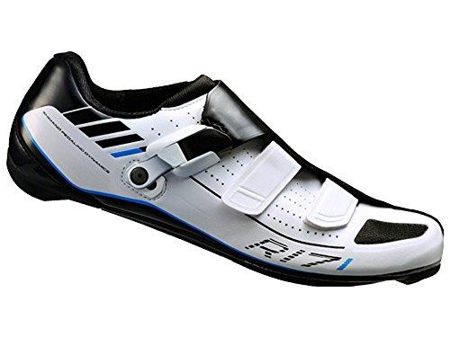 SHIMANO-Scarpe per Bici da Strada, per Adulti, Colore: Multicolore Multicolore R171 Gr. 42 W, SPD-SL, RATSCHENV. Velcro, 42, eshr171 c420we °