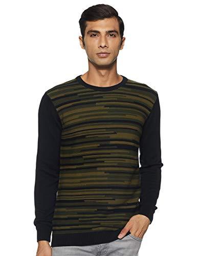 Pepe Jeans Men's Cotton Sweater (PM507032_Black_M)