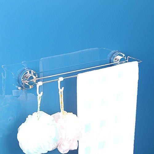 GFEI l'acier inoxydable, cuisine, salle de bain, salle de bain porte - serviette de bain suspendu / fort ventouse, double pendaison pole, porte - serviette de bain suspendu, serviette de bain suspendu de bain rack / aspiration wall, la perforation libre