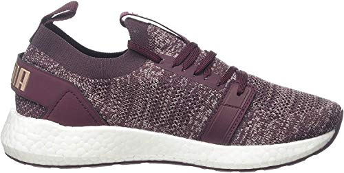 Puma NRGY Neko Engineer Knit Wns Laufschuhe Damen, Violett (Vineyard Wine-Bridal Rose-Puma White), 39 EU