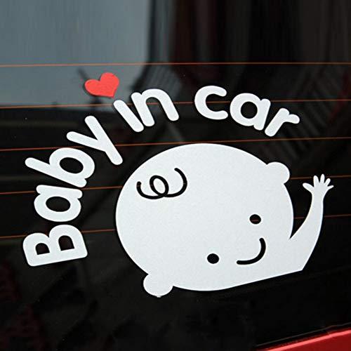 Cartoon Auto Aufkleber, reflektierende Vinyl Styling Baby im Auto Erwärmung Auto Aufkleber, Baby an Bord