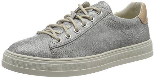 ESPRIT Damen Sidney Lace up Sneaker, Silber (090 Silver), 39 EU
