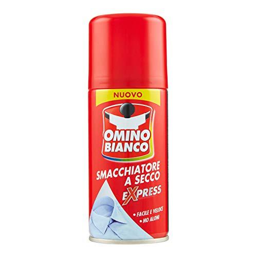 Omino Bianco Prodotto Specifico per Rimuovere Macchie Intense, Smacchiatore Spray a Secco Expess, Azione Immediata Senza Aloni, 125 ml