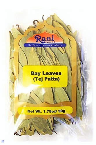 Rani Bay Leaf (Leaves) Whole Spice Hand Selected Extra Large 1.75oz (50g) All Natural ~ Gluten Free Ingredients | NON-GMO | Vegan | Indian Origin (Tej Patta)