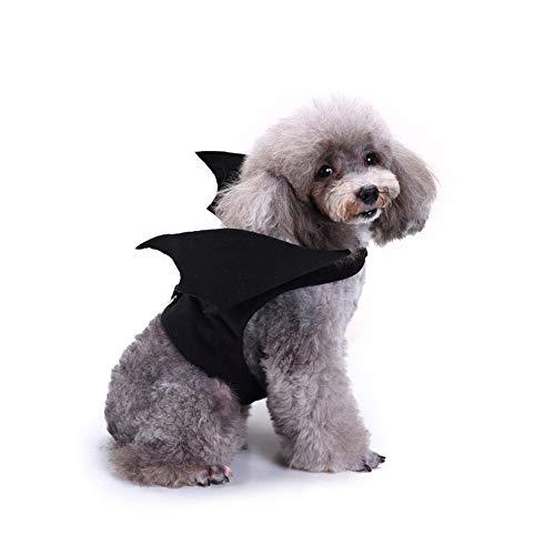 Halloween Animali Costumi Vestiti per Cani Bello Festival del Partito Travestimento Vestito Operato Abiti per Cani Ragno/Zucca/Mago/Hot Dog/Pipistrello (S, D)
