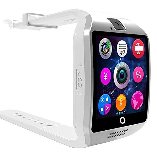 HAOBA Smart Orologio Pedometro Sonno Moritor TF di Sostegno Sim Bluetooth della Macchina Fotografica smartwatch per Android IOS Xiaomi Huawei telefono (Bianca)