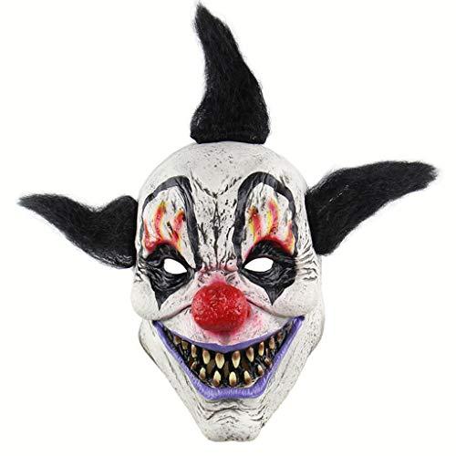 Halloween Masker Wizard Clown Enge Halloween Cosplay Voor Volwassenen Party Decoratie Props Volledige Hoofd Masker, 20×26CM, Wizard clown