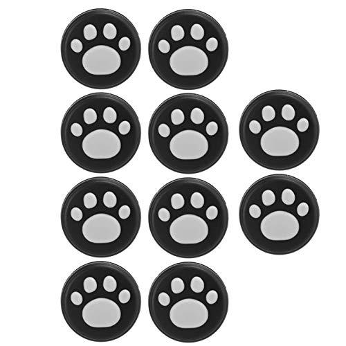 Capa de silicone com pegadores de dedo de pata de gato com fácil instalação e design novo polegar (garras brancas em preto)