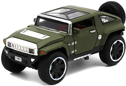 hongshen Escala de fundición a presión de aleación de Juguete Hummer HX Concept-o-Terreno analógico 1:32 Modelo de Coche 1.5x6x5CM (Color : Green, Size : One Size)