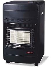 Estufa interior de gas butano cerámina FORCALI 42 KW (4200 W, 42 x 37 x 74,5 cm) bajo consumo
