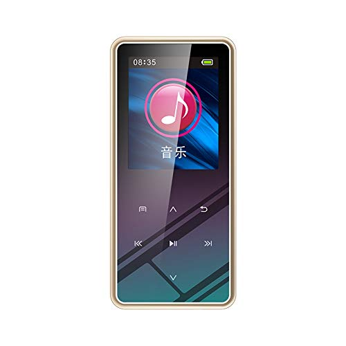 Alician for 8GB/16GB/32GB M12 1.5 Inch MP4 Player LCD Display Bluetooth V4.2 800ma Battery MP3 Mini MP4 Lossless HiFi Music Vedio Player 32GB Gold with Bluetooth