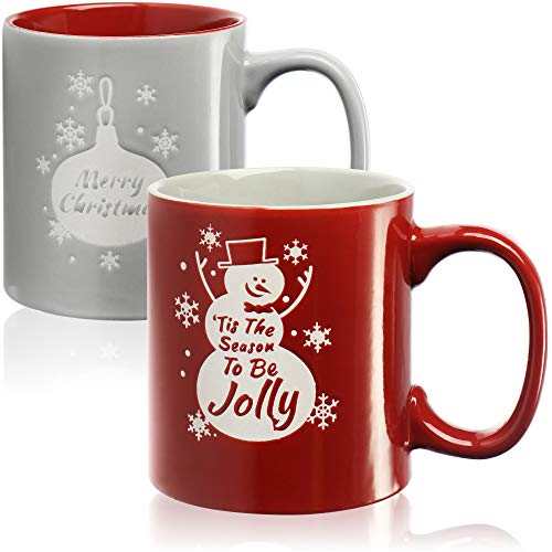 com-four® Taza de café 2X XL con Motivo navideño - Taza de café Grande - Taza de Navidad Apta para lavavajillas, Aprox.620 ml